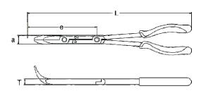 Szczypce wygięte SATA w podwójnym przegubem Souble-X