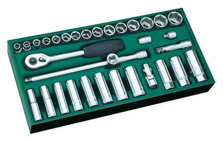 SATA 09902 zestaw 33 kluczy nasadowych na www.cooltools.pl
