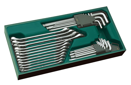 SATA 09906 zestaw 30 kluczy pł.oczkowych i trzpieniowych