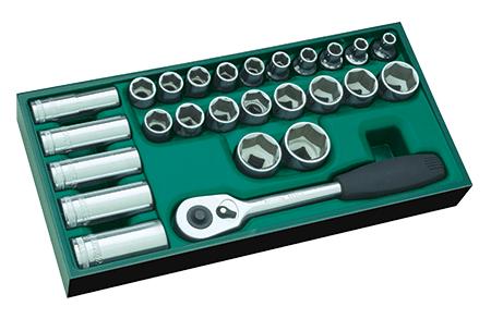 SATA 09915 zestaw szufladowy 26 kluczy nasadowych na www.cooltools.pl