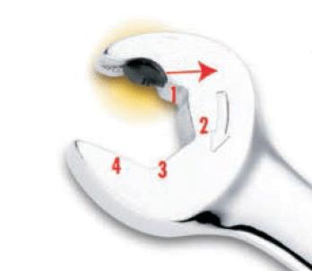 Mechanizm pinowy podwójnej grzechotki SATA