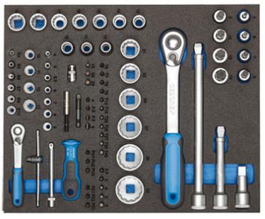 Wkładka narzędziowa Gedore CT2-D19-D20 w wózku narzędziowym WSL-L7 na cooltools.pl