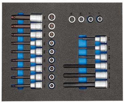Moduł narzędziowy Gedore TS CT2-ITX19 w wózku narzędziowym Gedore WSL-L7 na cooltools.pl