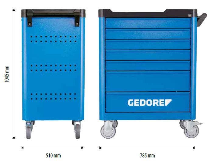 Wymiary wózka GEDORE Workstar Smartline WSL-17 na cooltools.pl