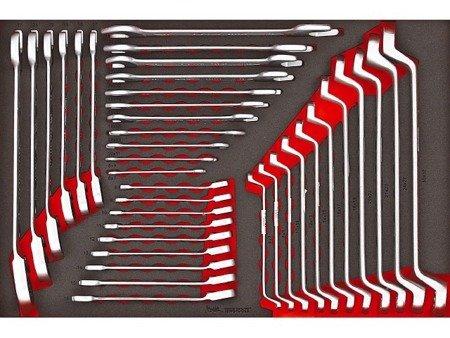7cb6d999071b7a Zestaw kluczy płaskich, oczkowych i płasko oczkowych z grzechotką (37 szt.)  TengTools